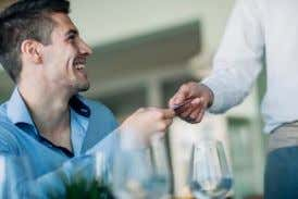 PATRON: Customer, client or paying guest at a restaurant.