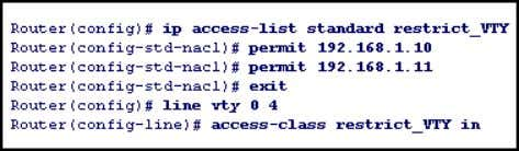Named IP ACLs Router(config)# ip access-list extended vachon1 Router(config-ext-nacl)# deny ip any 200.1.2.10 0.0.0.1 Router(config-ext-nacl)# permit