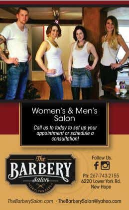 Women's & Men's Salon Call us to today to set up your appointment or schedule