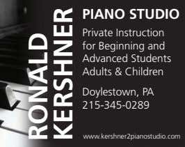 PIANO STUDIO Private Instruction for Beginning and Advanced Students Adults & Children Doylestown, PA