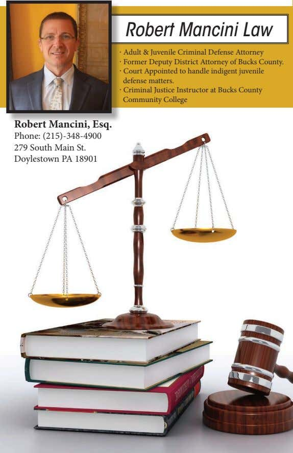 Robert Mancini Law · Adult & Juvenile Criminal Defense Attorney · Former Deputy District Attorney