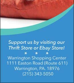 Support us by visiting our Thrift Store or Ebay Store! * * * Warrington Shopping