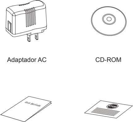 QuickStart Guide STOP Adaptador AC CD-ROM
