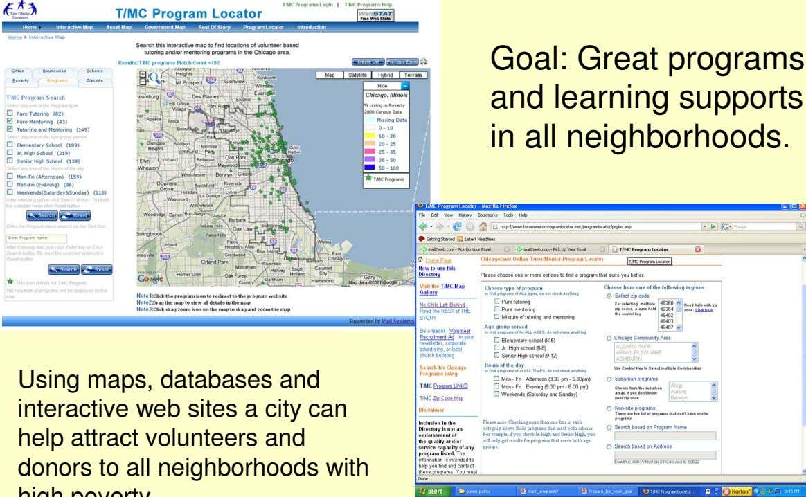 Goal: Great programs and learning supports in all neighborhoods.