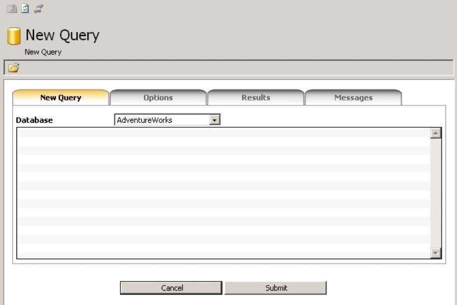 for MS SQL Server 6 T OOLS AND W IZARDS 6.1. New Query Use this tool
