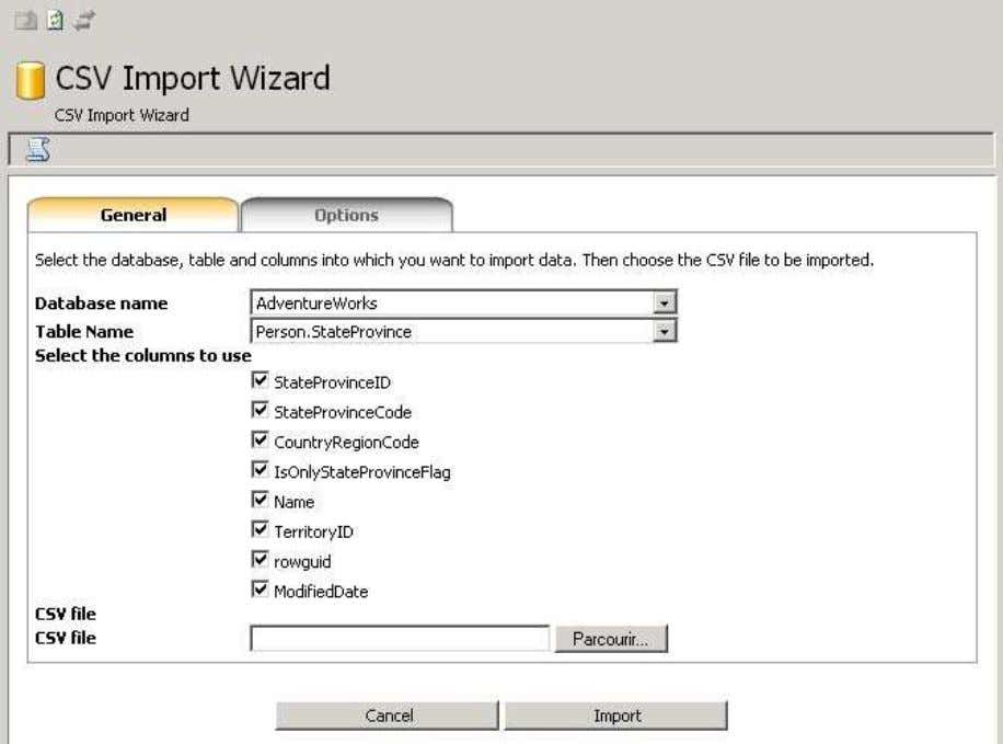 myLittleAdmin for MS SQL Server 6.3. CSV Import Wizard This wizard will help you import CSV