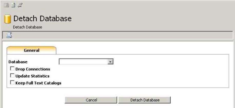 myLittleAdmin for MS SQL Server 6.8. Detach Wizard This wizard will help you detach a database.
