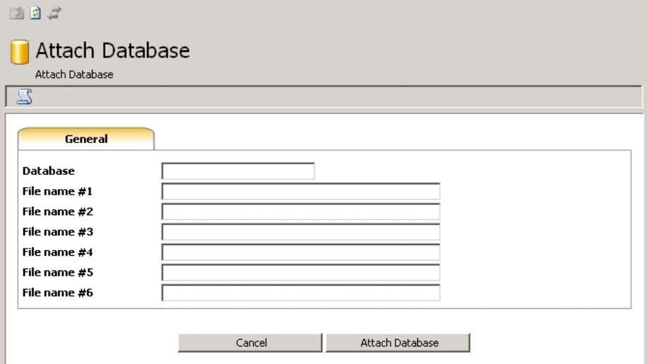 myLittleAdmin for MS SQL Server 6.9. Attach Wizard This wizard will help you attach a database.