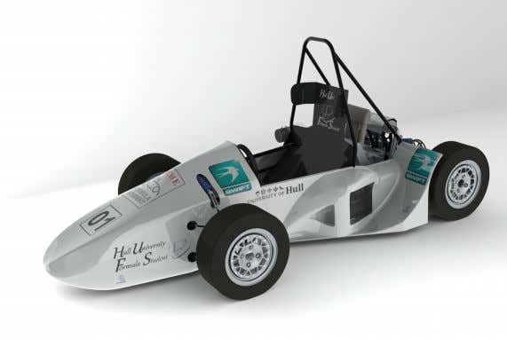 the first ever car to be designed at the University of Hull Version 12: Limited underbody