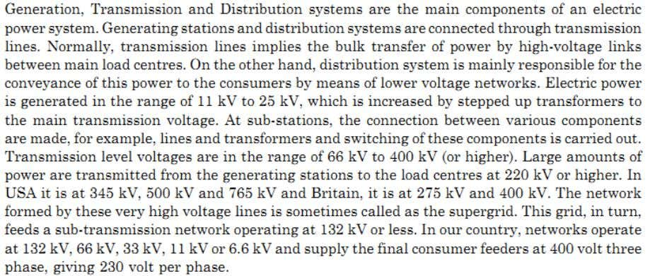 power (may be in place of transmission system in case of microgrid), – control equipment :