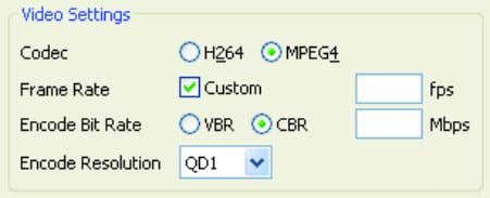 is correct before running a decode or encode operation. Note: It is possible to choose settings