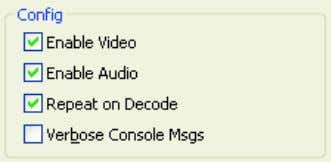 choose various options for how the application should run: Enable Video. On by default. Off disables
