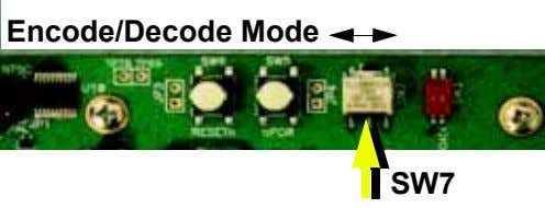 Encode/Decode Mode SW7