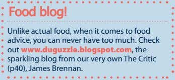 Food blog! Unlike actual food, when it comes to food advice, you can never have