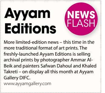 Ayyam Editions More limited-edition news – this time in the this time in the more