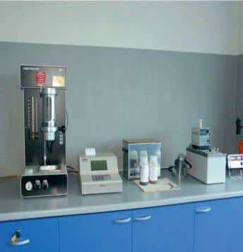 Particle counter Framo test laboratory Karl Fisher water test equipment Viscosity and density test equipment