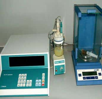 Particle counter Framo test laboratory Karl Fisher water test equipment Viscosity and density test equipment Condition
