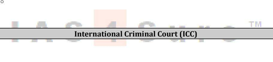 o International Criminal Court (ICC)