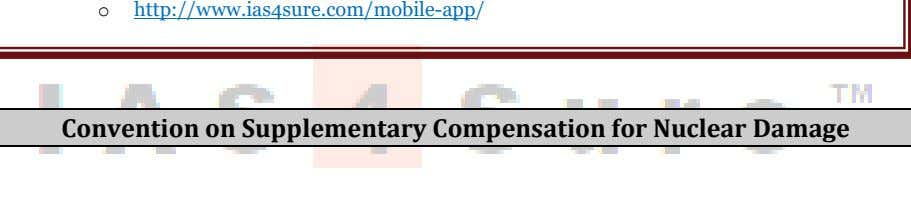 o http://www.ias4sure.com/mobile-app/ Convention on Supplementary Compensation for Nuclear Damage