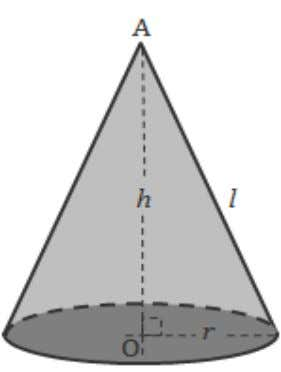 Perimeter of Base Area of Base Slant Height Height 52. Cone C.S.A. = π rl T.S.A.