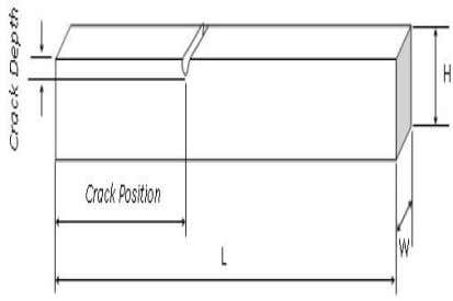 model of cracked beam built in ANSYS is shown in Fig.4. Crack Fig.4. Model of the
