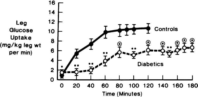 muscle insulin resistance in type 2 diabetic subjects. Fig. 9. Time course of change in leg