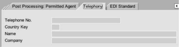 also maintain the contact details in the telephony option. EDI STANDARD (OUTBOUND PARAMETERS) EDI standard screen