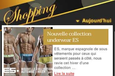 Nouvelle collection underwear ES