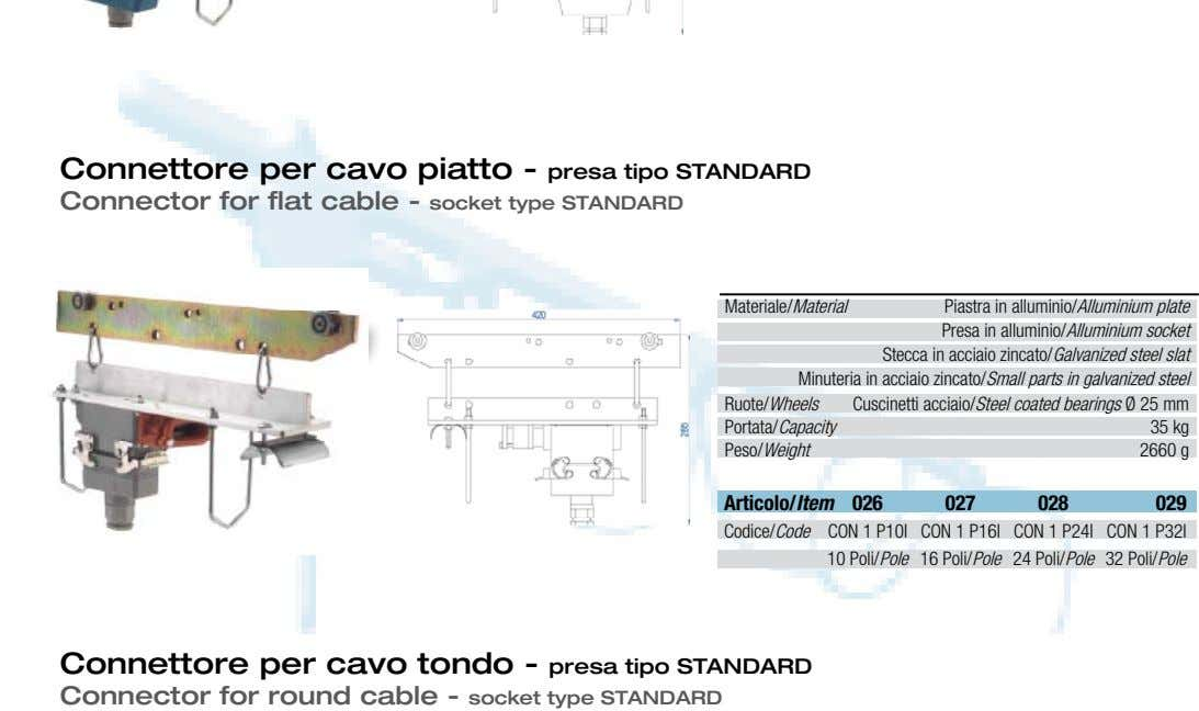 Connettore per cavo piatto - presa tipo STANDARD Connector for flat cable - socket type STANDARD
