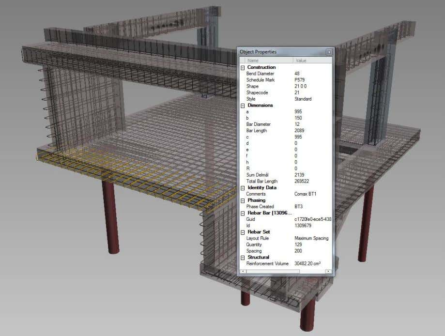 Rebar Modeling in Revit Håvard Vasshaug, Dark Figure 87: Rebar Set properties in Autodesk Design Review