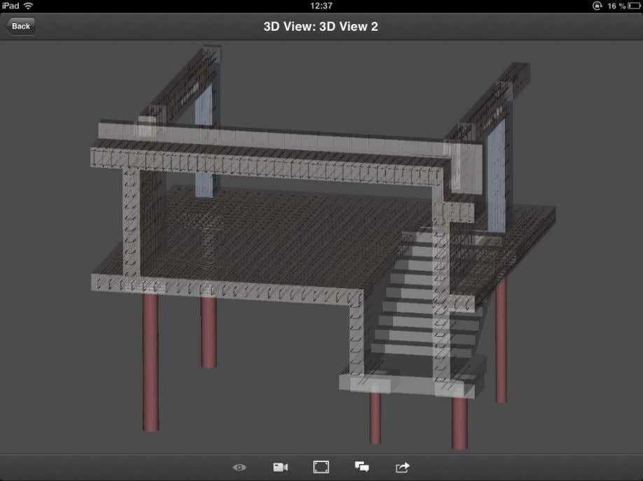 Rebar Modeling in Revit Håvard Vasshaug, Dark Figure 89: 3D DWF viewed with Autodesk 360 on