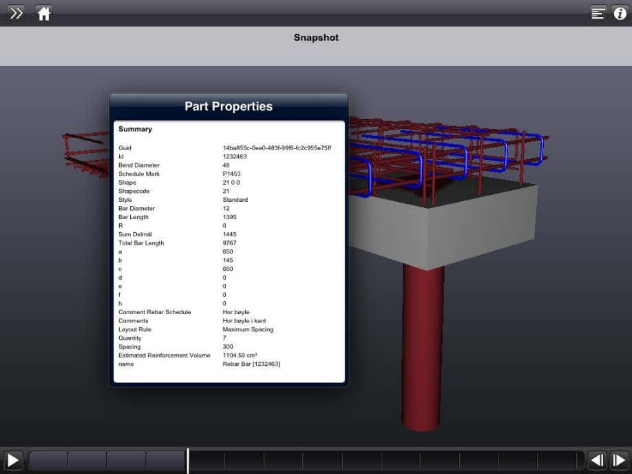 Rebar Modeling in Revit Håvard Vasshaug, Dark Figure 99: Assembly animation paused and exported properties reviewed