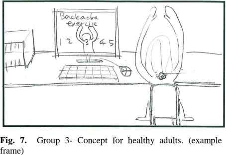 Fig. 7. Group 3- Concept for healthy adults. (example frame)