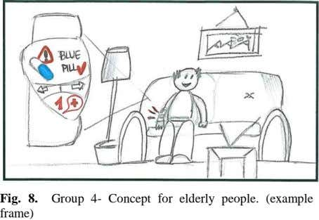 Fig. 8. Group 4- Concept for elderly people. (example frame)