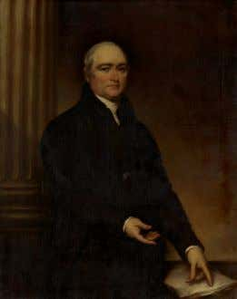 "Timothy Dwight (1752-1817) by John Trumbull. ""THE FLOURISHING VILLAGE"" from Timothy Dwight's Greenfield Hill"