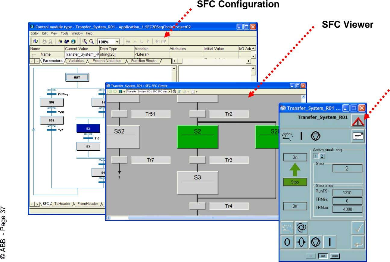 SFC Configuration SFC Viewer © ABB - Page 37