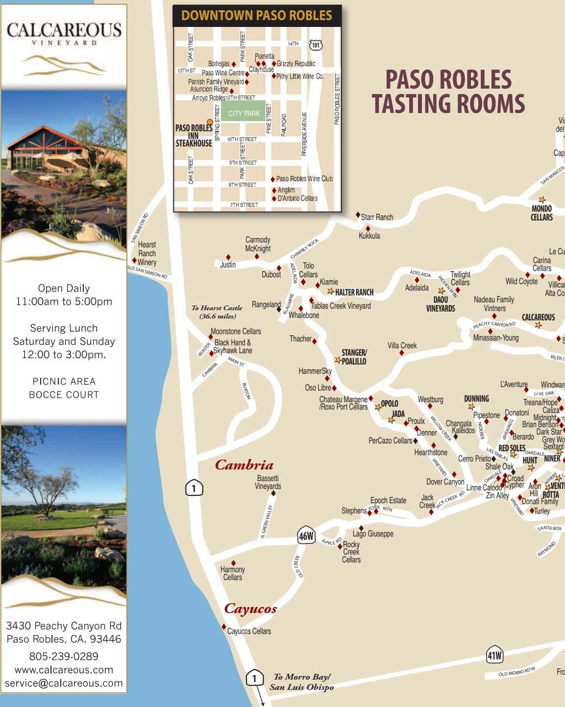 DOWNTOWN PASO ROBLES 101 A HIDDEN MTN PASO ROBLES TASTING ROOMS Vi PASOROBLES del INN