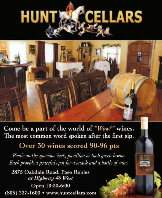 issue at www.winecountrythisweek.com WINE COUNTRY THIS MONTH Sign up for our email newsletter at