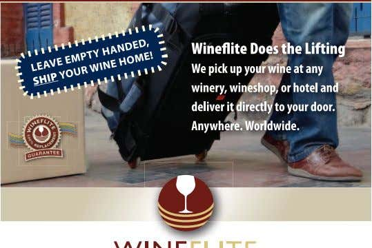 JANUARY 2013 WINE COUNTRY THIS MONTH Sign up for our email newsletter at www.WineCountryThisMonth.com 9