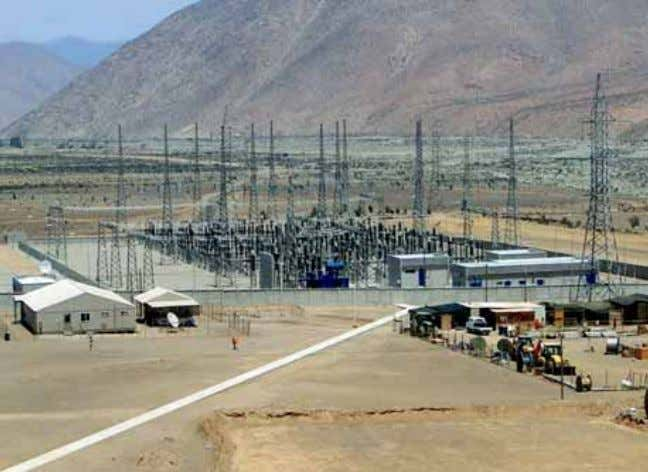 deposits, with gold reserves of about 23 million ounces The primary substation at Punta Colorada, Chile