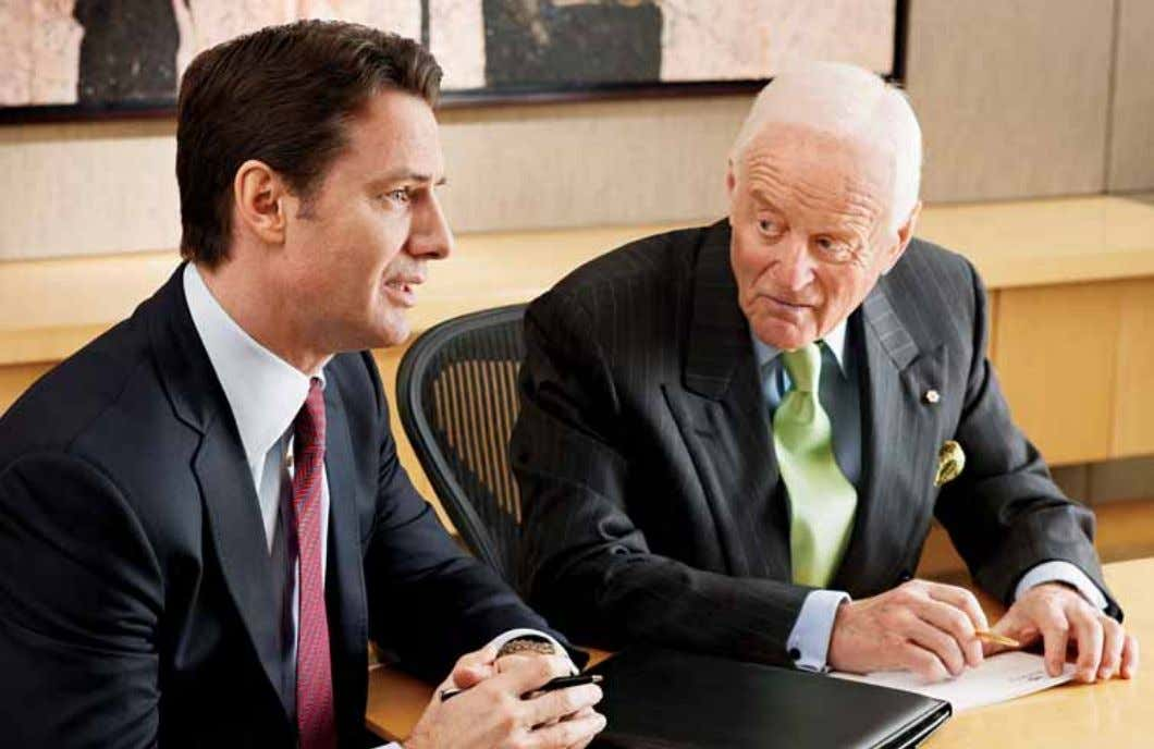 Peter Munk, Founder and Chairman (right) Aaron Regent, President and Chief Executive Officer Message from