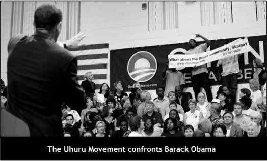 The Uhuru Movement confronts Barack Obama