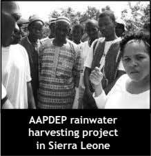 AAPDEP rainwater harvesting project in Sierra Leone