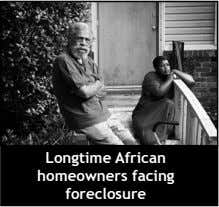Longtime African homeowners facing foreclosure