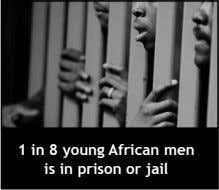1 in 8 young African men is in prison or jail