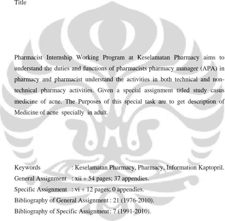 Title Pharmacist Internship Working Program at Keselamatan Pharmacy aims to understand the duties and functions