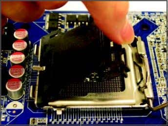 Socket Lever Step 1: Completely raise the CPU socket lever. Step 2: Remove the protective socket