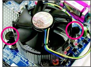is to remove the cooler, on the contrary, is to install.) Step 3: Place the cooler