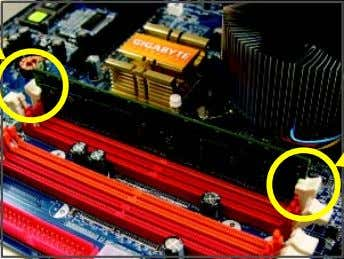 the memory and insert it vertically into the memory socket. Step 2: The clips at both