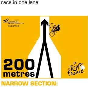 race in one lane NARROW SECTION: